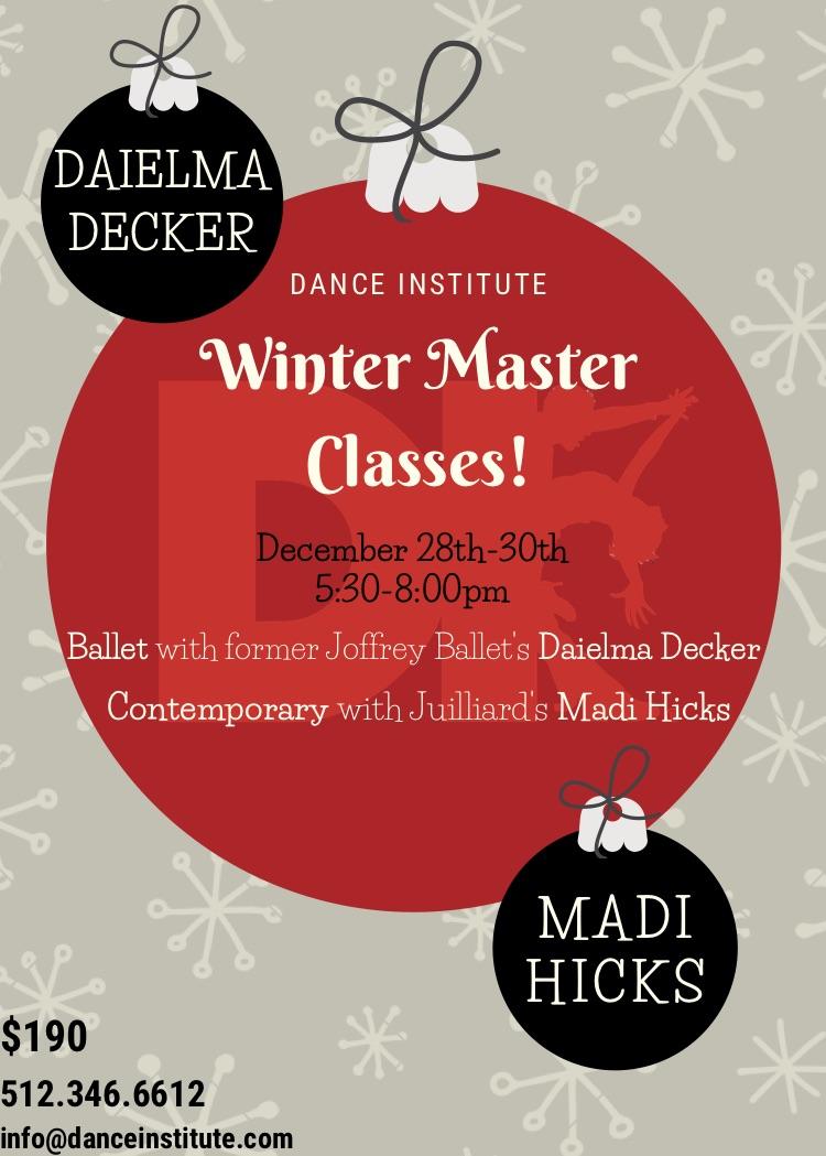 2020 Master Winter Classes