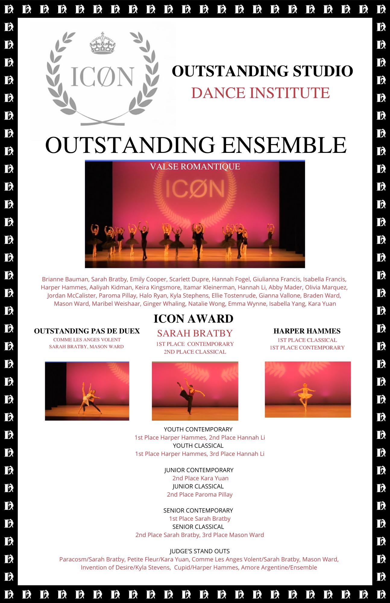 ICON OUTSTANDING STUDIO DANCE INSTITUTE.