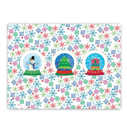 פלייסמט פיויסי- דגם פתיתי שלג