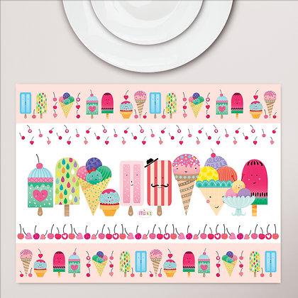פלייסמט פיויסי ילדים- גלידות