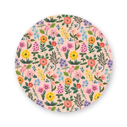 ראנר/פלייסמט פיויסי עגול- דגם פרחים אפרסק