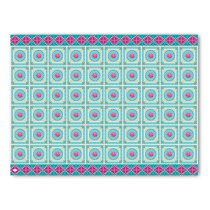 שטיח pvc דגם ריבועים ורוד