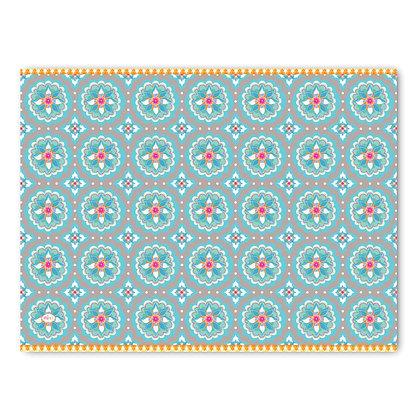שטיח pvc דגם אתני מעושן