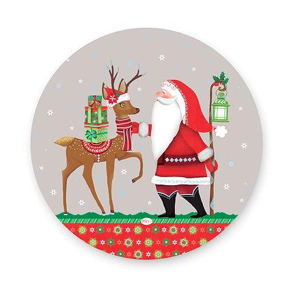 ראנר פיויסי עגול- דגם סנטה רקע אפור