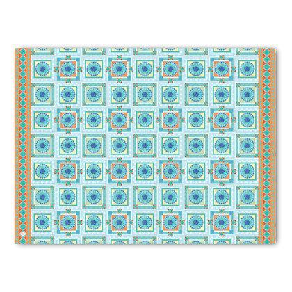 שטיח pvc דגם ריבועים