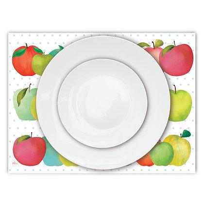 פלייסמט פיויסי- דגם תפוחים