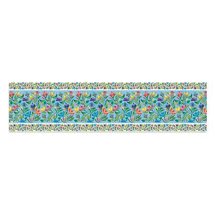 ראנר פיויסי- דגם תכלת פרחים