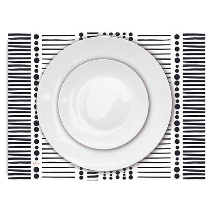 פלייסמט פיויסי- דגם שחור לבן