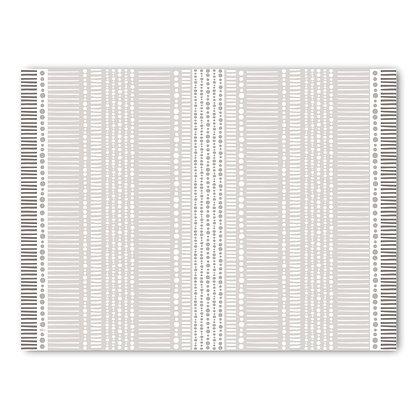 שטיח pvc דגם אפור לבן