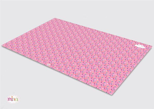 לילדים- דגם טיפות ורוד pvc שטיח