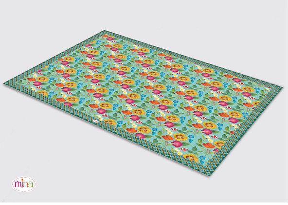 שטיח pvc דגם פטרן רומנטי