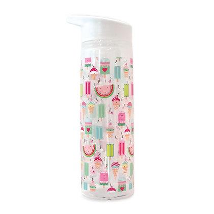 בקבוק פלסטיק שקוף- דגם גלידות