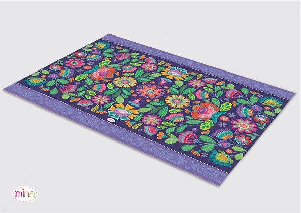 שטיח pvc דגם פולקלור סגול