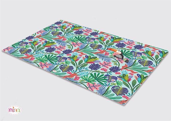 לילדים- דגם אקזוטי pvc שטיח