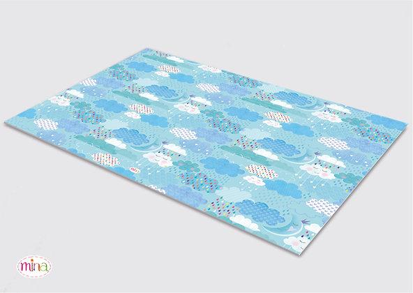 לילדים- דגם עננים pvc שטיח