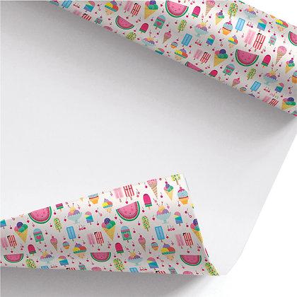 נייר עטיפה- דגם גלידות