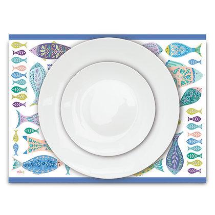 פלייסמט פי.וי.סי- דגם דגים