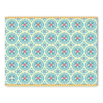 שטיח pvc דגם אתני בהיר