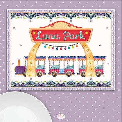 פלייסמט פיויסי ילדים- דגם רכבת