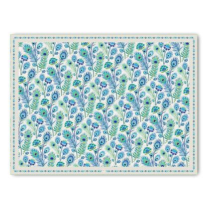 שטיח pvc דגם נוצות טווס