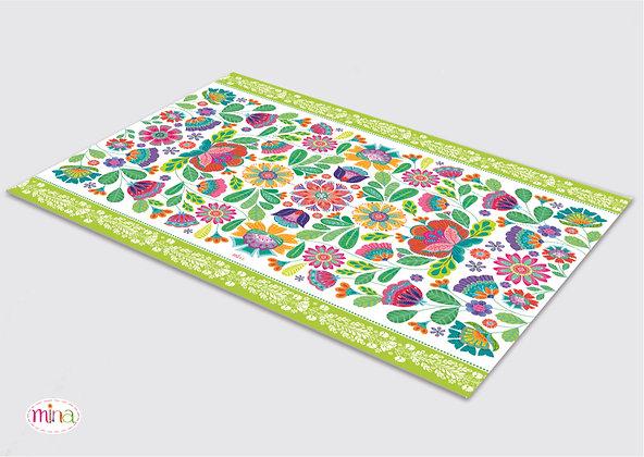 שטיח pvc דגם פולקלור
