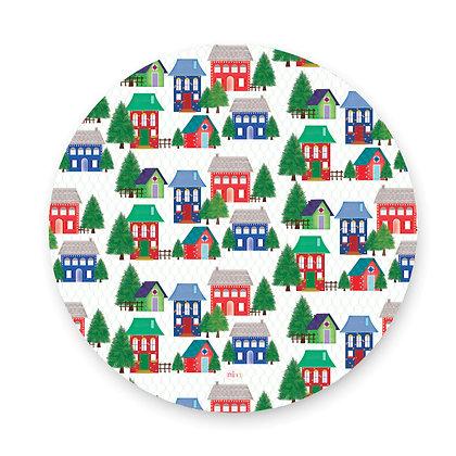 ראנר פיויסי עגול- דגם בתים ביער