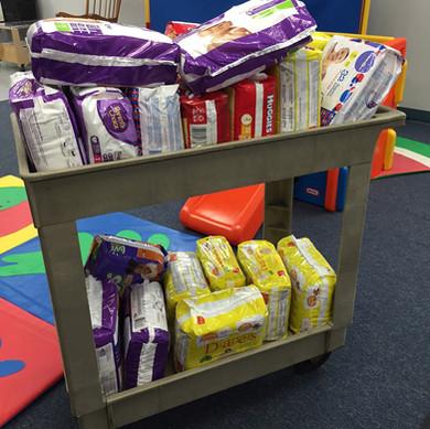 Cart of Diapers