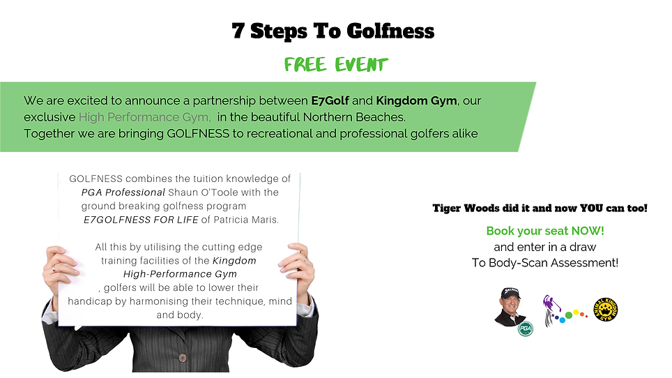 7 steps to golfness FREE Event large siz