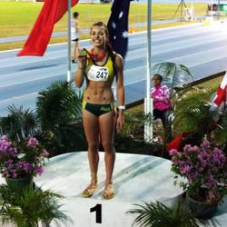 Elana Withnall Oceania Champion Heptathlon Athletics