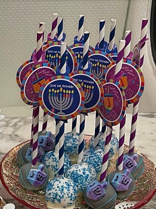 Channukah Cake pops