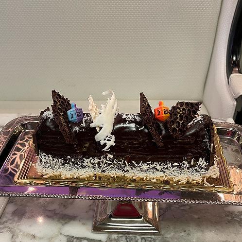 Hannukah Vanilla Coconut Cake