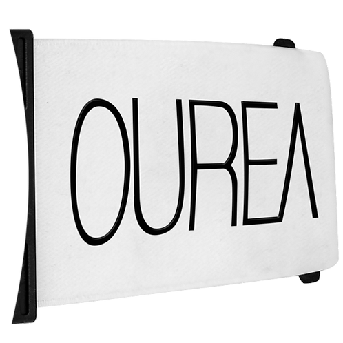 White Logo Strap