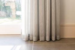 Weighted hem Sheer Curtains Suffolk