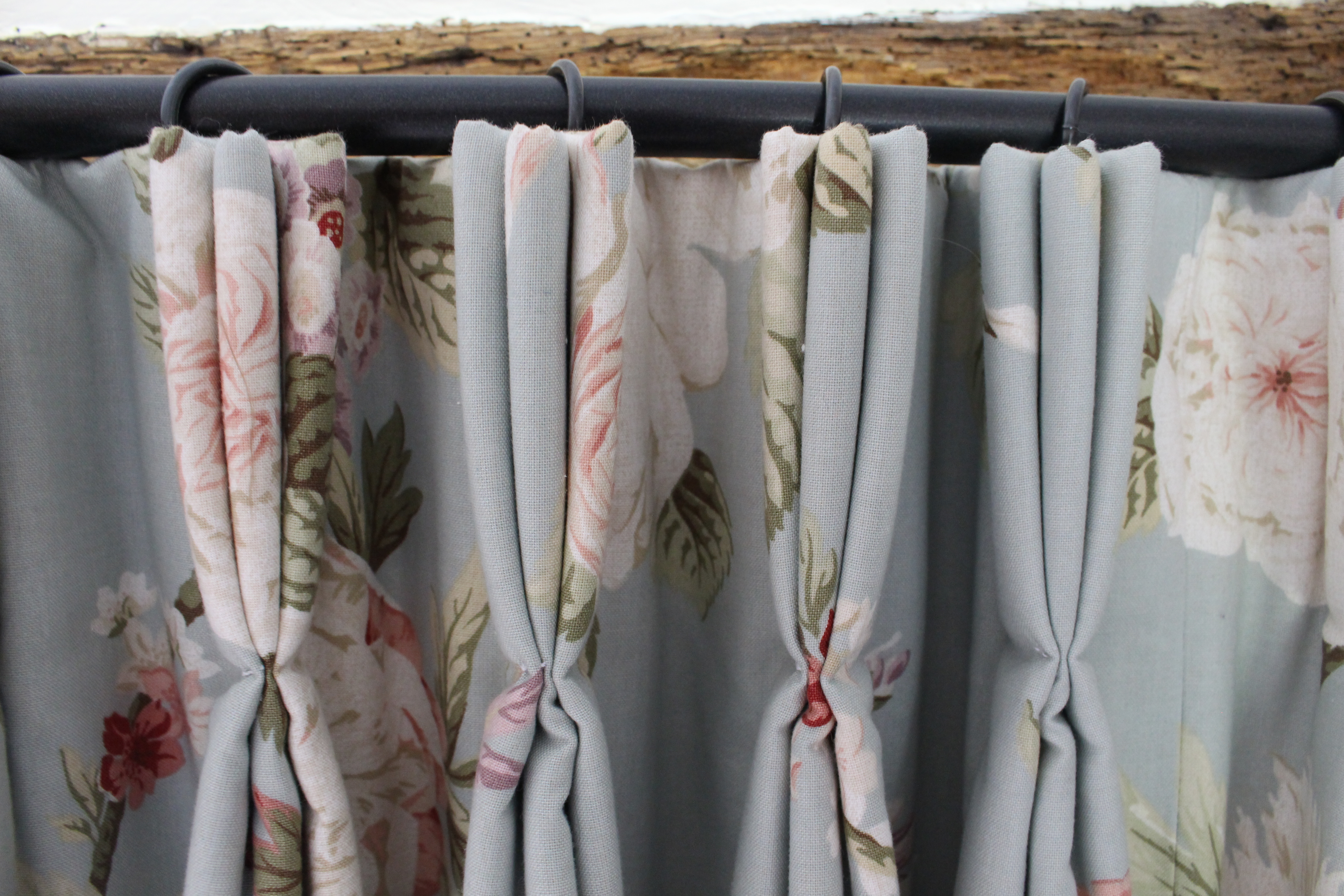 Hand pleated curtains Suffolk