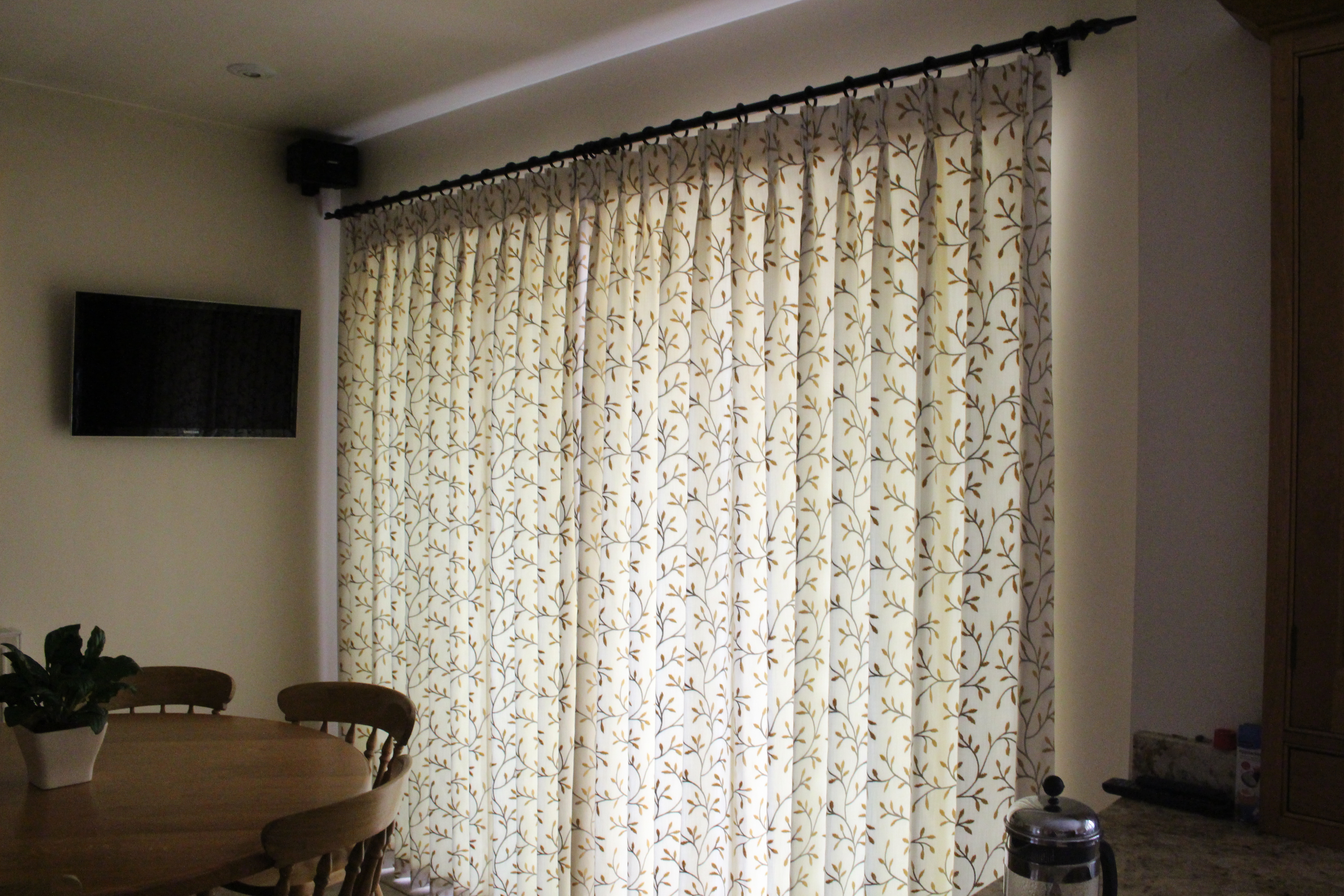 Sateen lined Curtains Suffolk