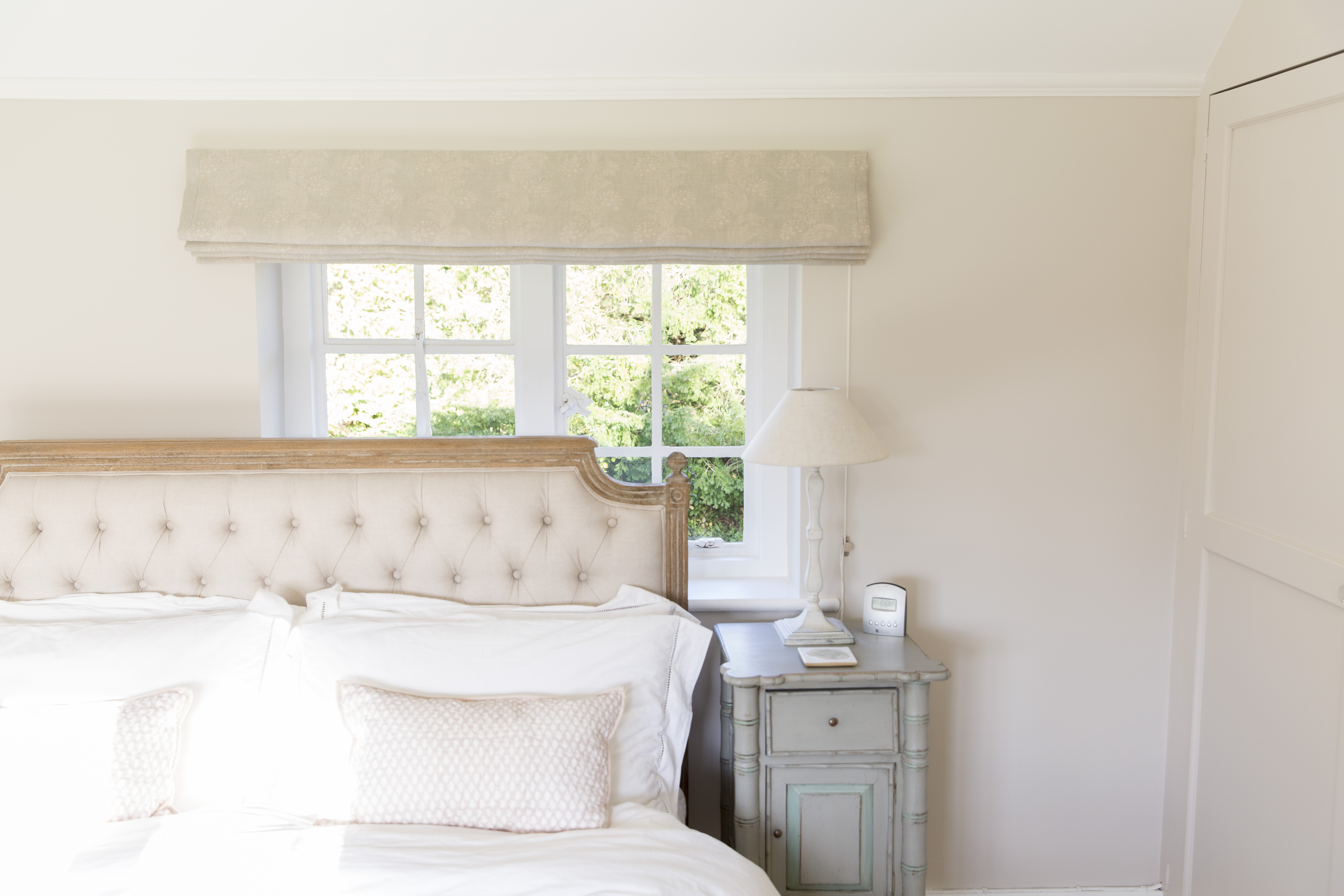 French Bedroom Roman Blind Suffolk