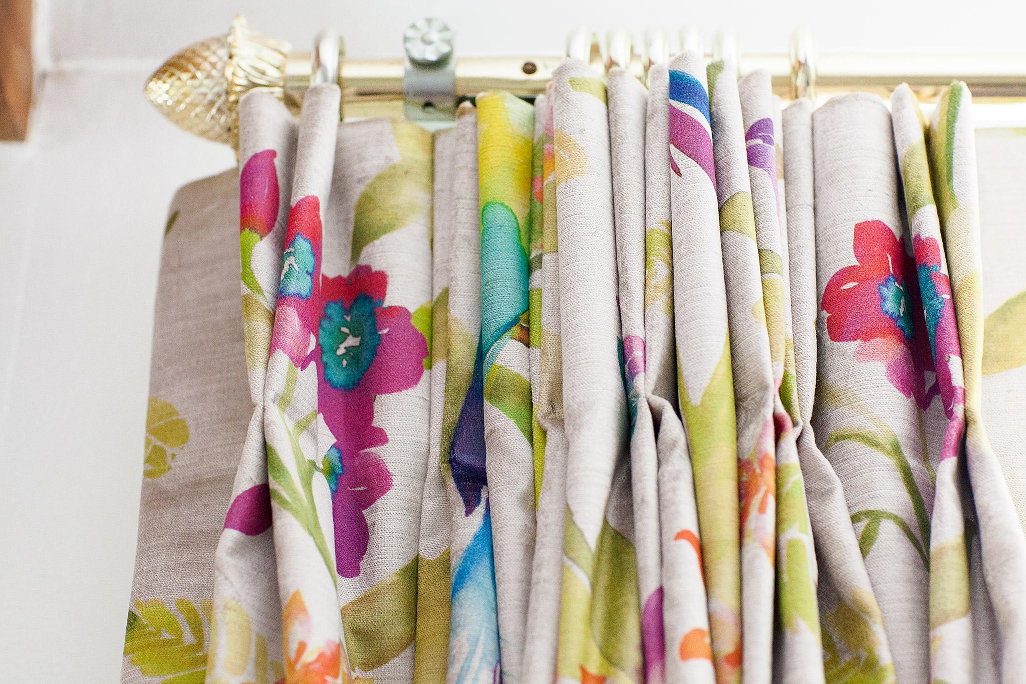 Printed Velvet Curtains Suffolk