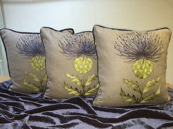 Cushions by Tailor-Made.  Thistle de