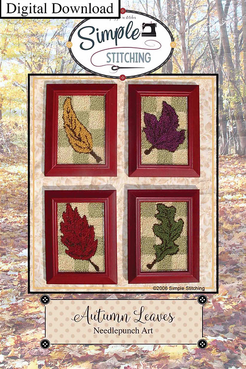 Autumn Leaves Needlepunch Digital Download