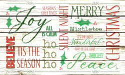 Christmas Typography Floor Mat