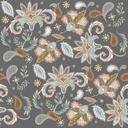 Floral on Gray