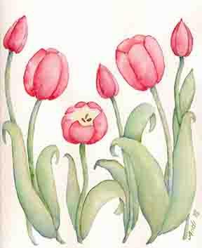 Original Tulip Art