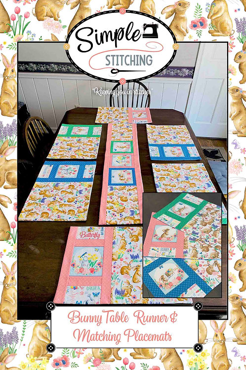 Bunny Placemats and Tablerunner