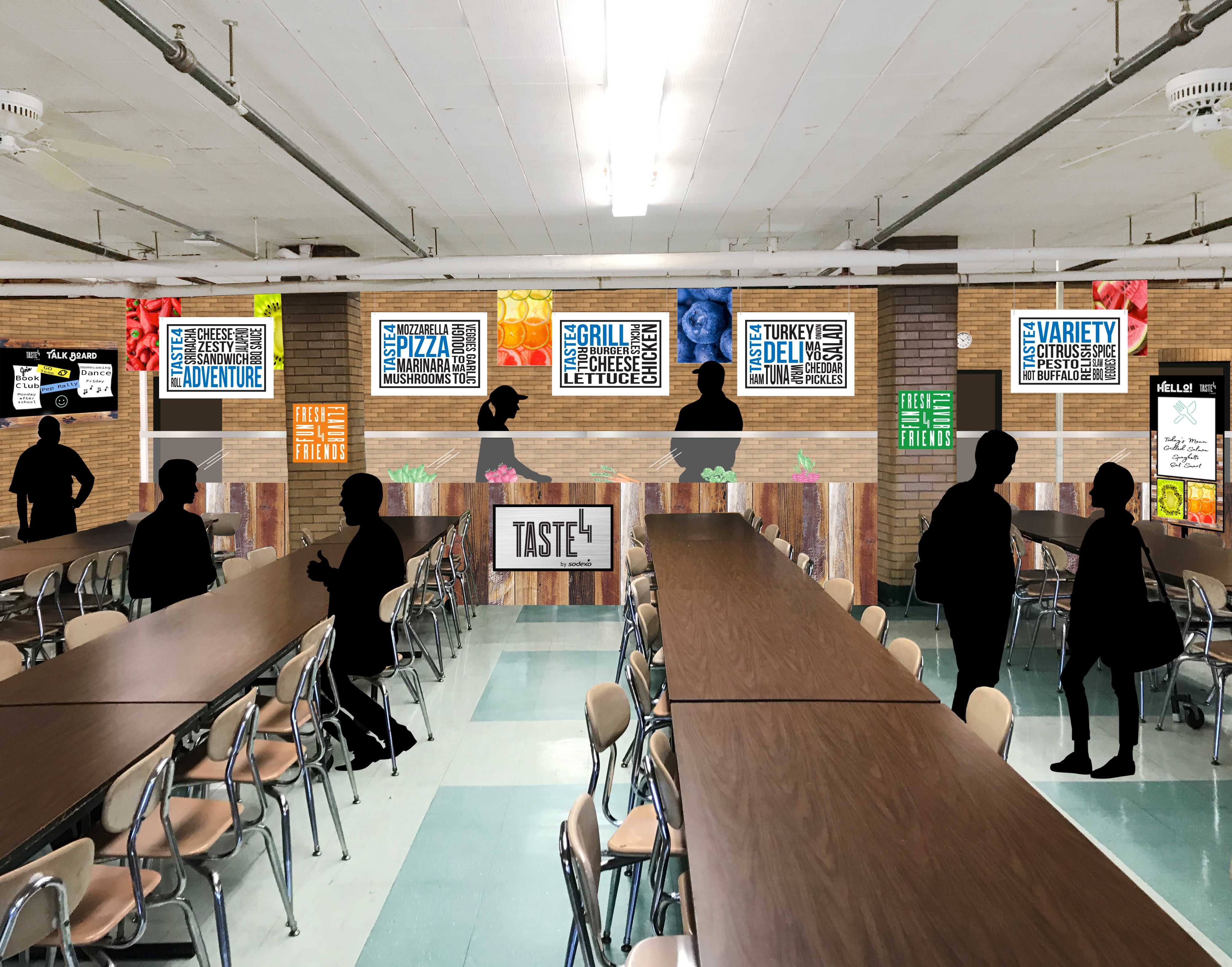 Mock up for Dining Hall Update
