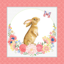 Bunnies and Blossoms Panel