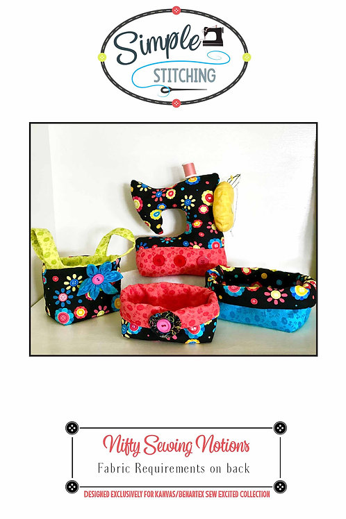 Nifty Sewing Notions - Pincushion and storage Pattern