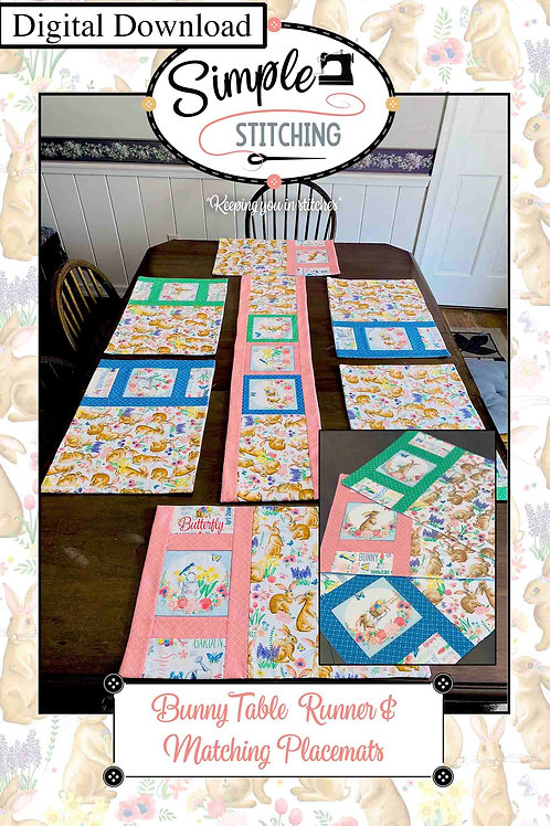 Bunny Placemats and Table Runner