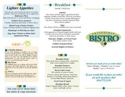 Bistro Tri-fold menu