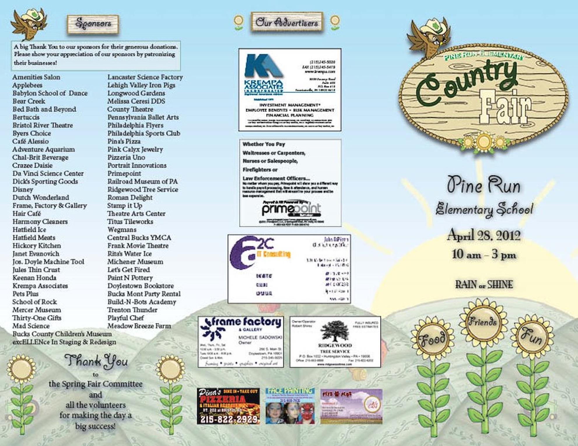 Spring Fair Tri-fold Brochure