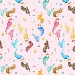 Mermaid Fabric Pattern